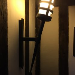 Hand forged wrought iron Portcullis single wall light