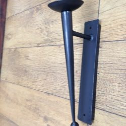 Hand forged wrought iron Goodwood single long point and ball wall light