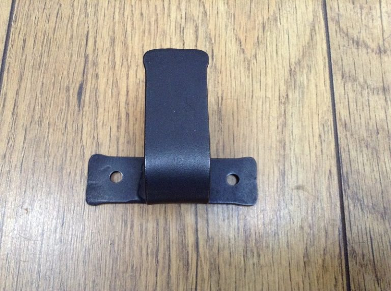 Hand forged wrought iron curtain pole bracket